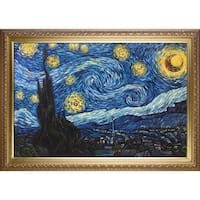 Vincent Van Gogh 'Starry Night' (Luxury Line) Hand Painted Oil Reproduction