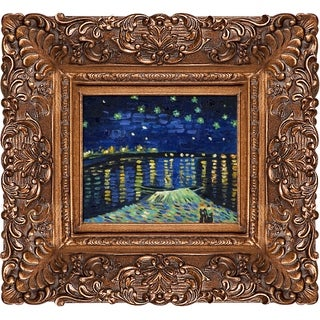 Vincent Van Gogh 'Starry Night Over The Rhone' Hand Painted Oil Reproduction