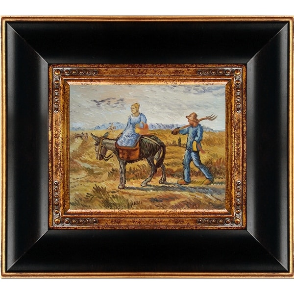 Vincent Van Gogh 'Peasant Couple Going To Work' Hand Painted Oil Reproduction