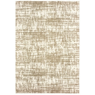 """Strick & Bolton Bordes Ivory and Taupe Distressed Area Rug - 5'3"""" x 7'6"""""""