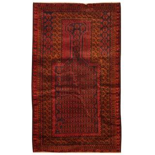 Handmade Balouchi Wool Rug (Afghanistan) - 2'10 x 4'10