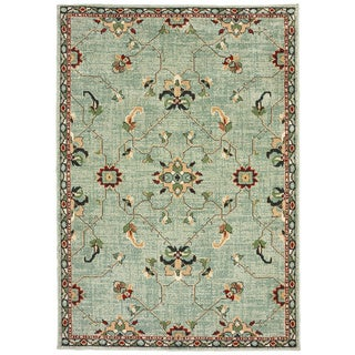 "Copper Grove Makarska Floral Blue and Teal Area Rug - 5'3 x 7'6 - 5'3"" x 7'6"""