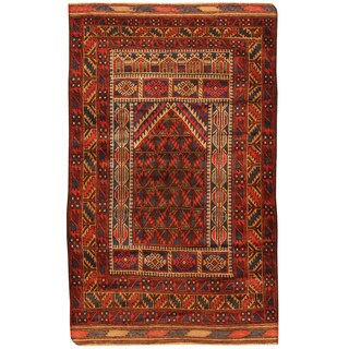 Handmade Balouchi Wool Rug (Afghanistan) - 2'11 x 4'9