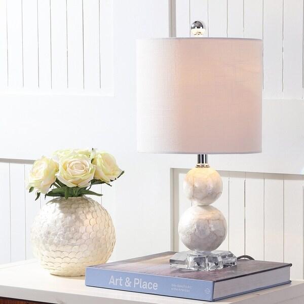 """Bailey 19"""" Seashell LED Table Lamp, Ivory"""