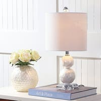 "Bailey 19"" Seashell LED Table Lamp, Ivory"