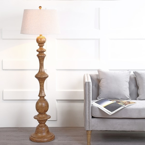 "Taylor 67"" Resin LED Floor Lamp, Brown"