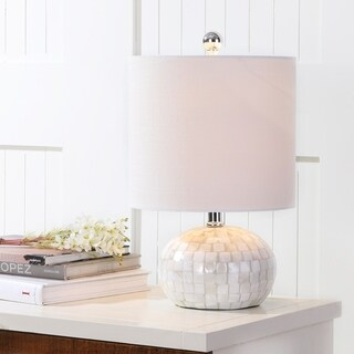 "Wilson 16"" Seashell LED Table Lamp, Ivory"