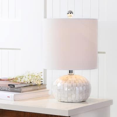 "Wilson 16"" Seashell LED Table Lamp, Ivory by JONATHAN Y"