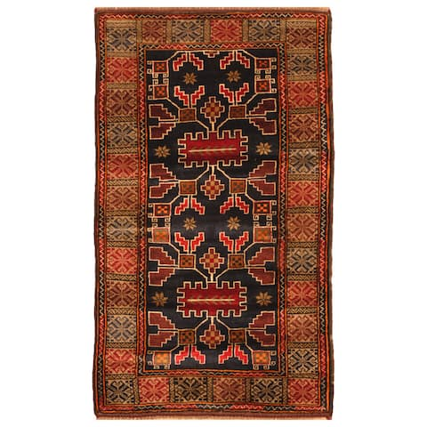 Handmade One-of-a-Kind Balouchi Wool Rug (Afghanistan) - 2'7 x 4'7