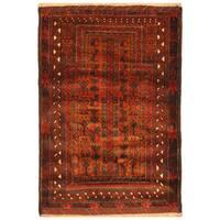 Handmade Herat Oriental Afghan Hand-knotted Balouchi Wool Rug (3' x 4'7)