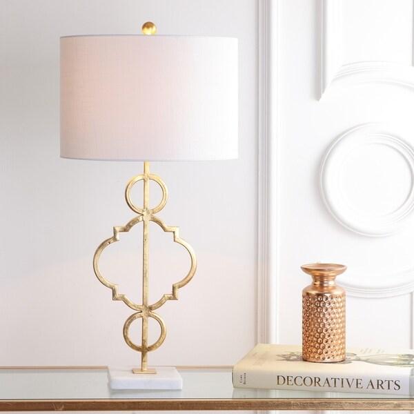 """July 31"""" Metal LED Table Lamp, Gold Leaf"""