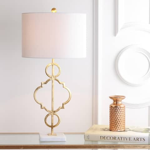"""July 31"""" Metal LED Table Lamp, Gold Leaf by JONATHAN Y"""