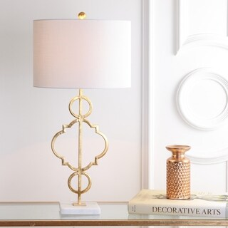 "July 31"" Metal LED Table Lamp, Gold Leaf"