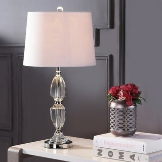 """Link to Graham 27"""" Crystal LED Table Lamp, Clear/Chrome by JONATHAN  Y Similar Items in Table Lamps"""
