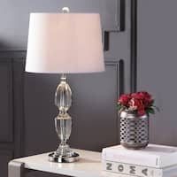 "Graham 27"" Crystal LED Table Lamp, Clear/Chrome"