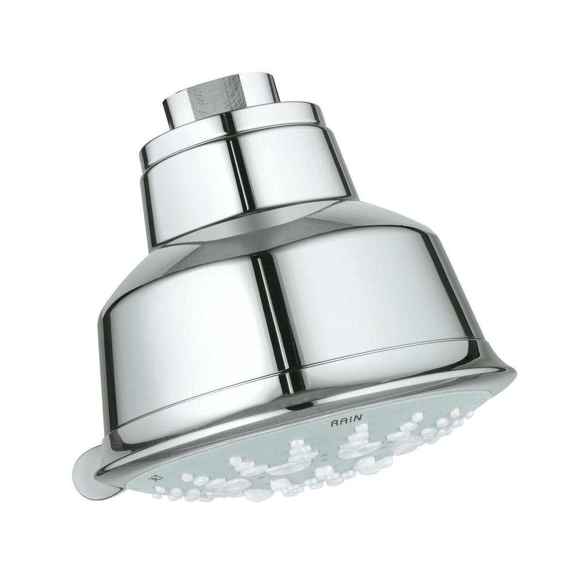 Grohe Relexa Rustic 100 Five Shower Head 5 Sprays 27126001 Starlight Chrome