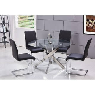 Round glass tables and chairs Dark Oak Glass Buy Glass Kitchen Dining Room Sets Online At Overstockcom Our Best Dining Room Bar Furniture Deals Overstock Buy Glass Kitchen Dining Room Sets Online At Overstockcom Our