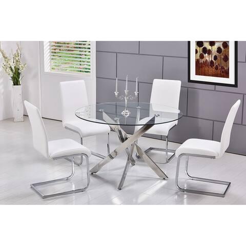 Best Master Furniture T01 5-piece Modern Round Dinette Set