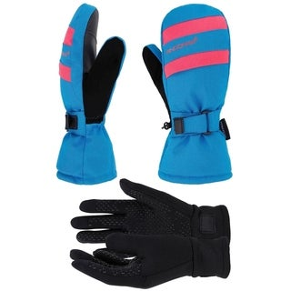 Women's Hyper Tech Touchscreen Ski Mittens with Pockets & Optional Light Inner Gloves