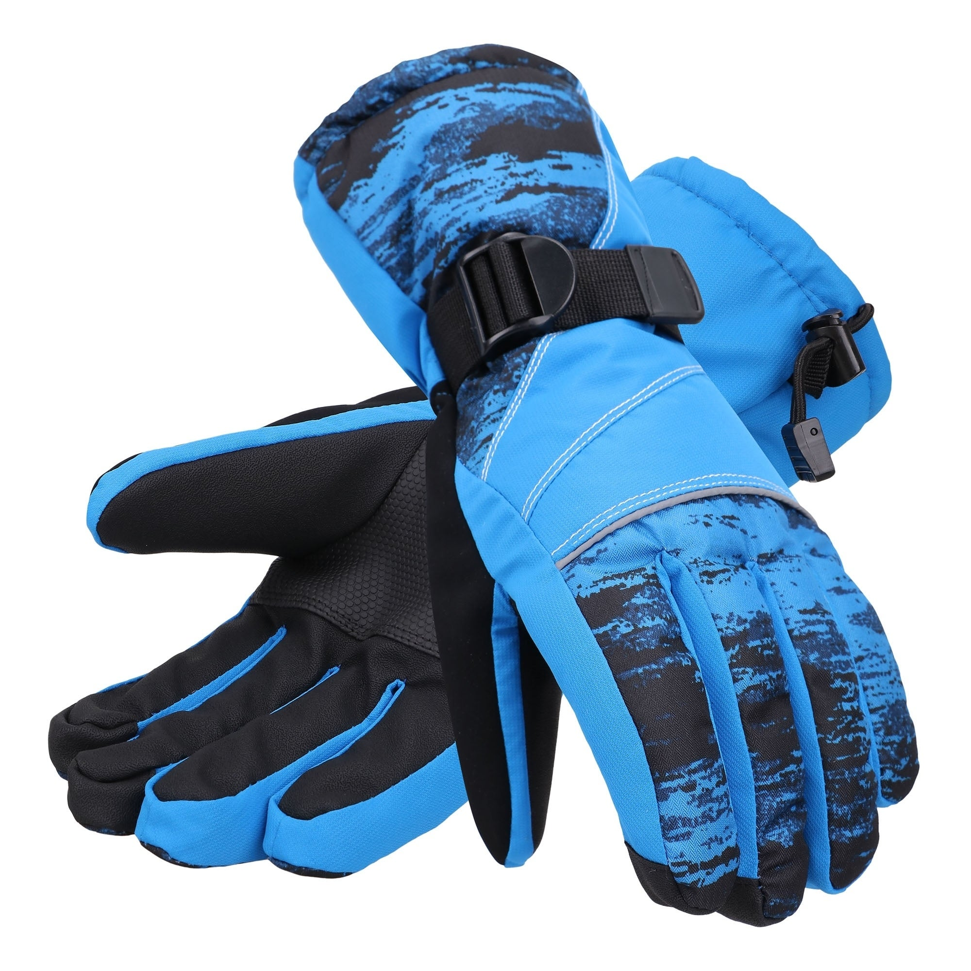 Men's Accessories Andorra Men's Thinsulate Touchscreen Black Medium Abstract Waterproof Ski Gloves