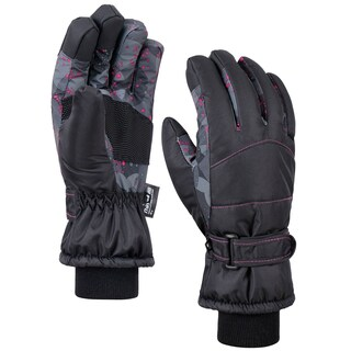 Women's Night Galaxy Waterproof Touchscreen Snow Ski Gloves