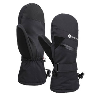 Women's Touchscreen Ski and Snowboarding Mittens with Zippered