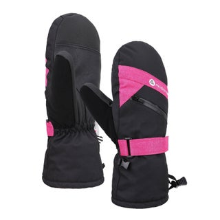 Women's Touchscreen Ski and Snowboarding Mittens with Zippered (Option: Multi - M/L)