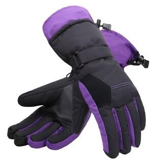 Women's Two-Tone Geometric Touchscreen Ski Glove