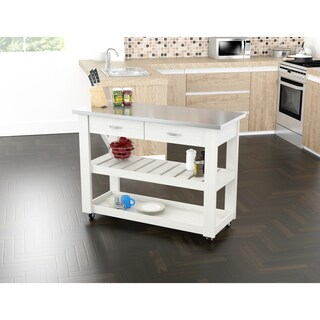 Inval Kitchen Cart with Stainless Steel Top