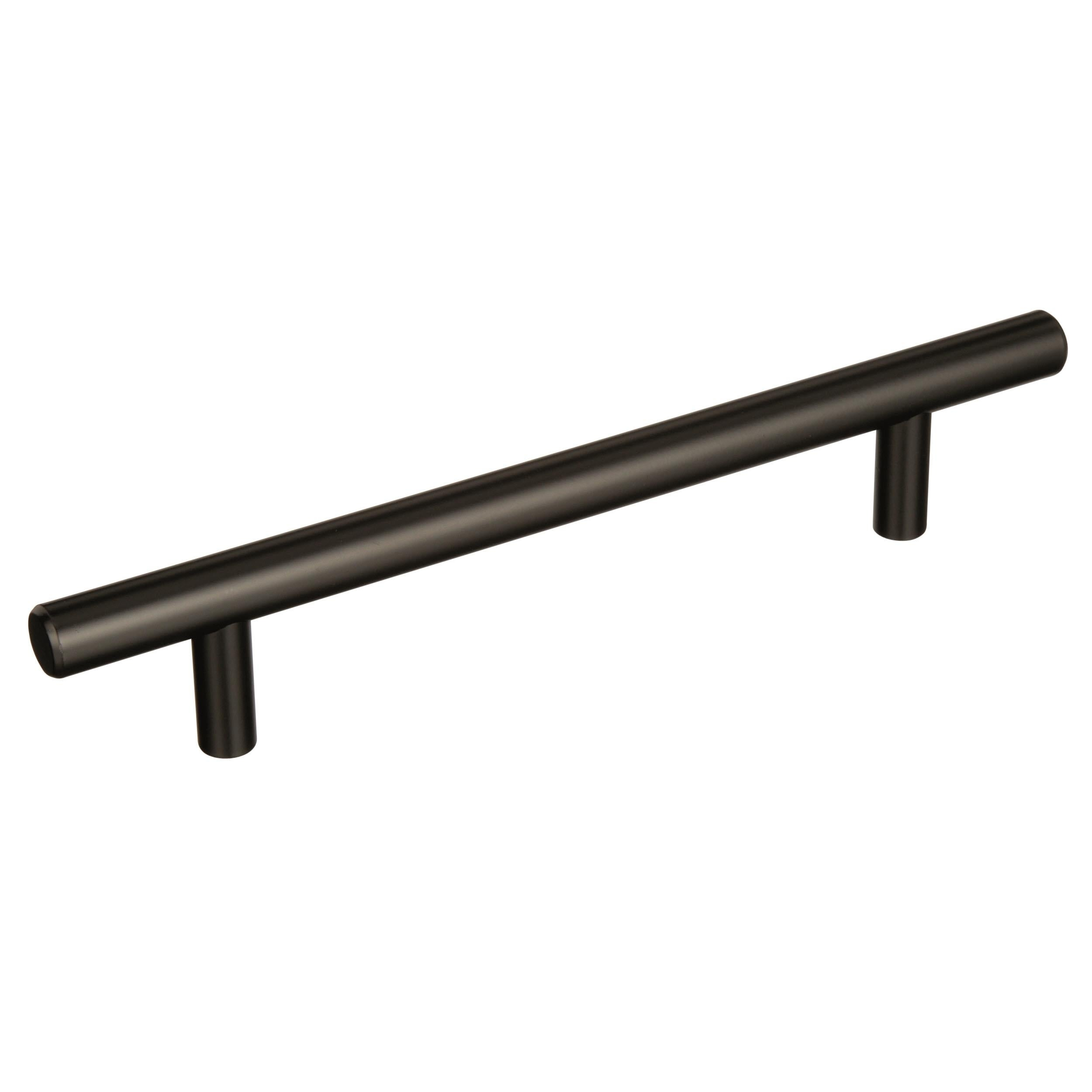 Shop Bar Pulls 5 1 16 In 128 Mm Center To Center Black Bronze Cabinet Pull Overstock 19671243