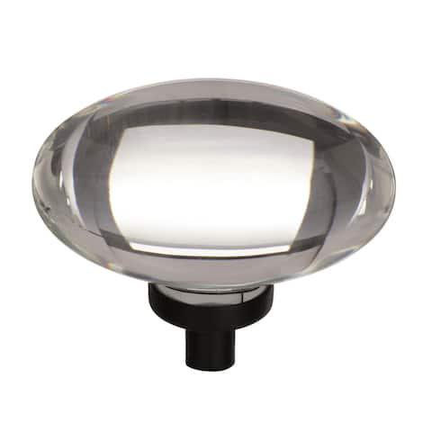 Glacio 1-3/4 in (44 mm) Length Clear/Black Bronze Cabinet Knob