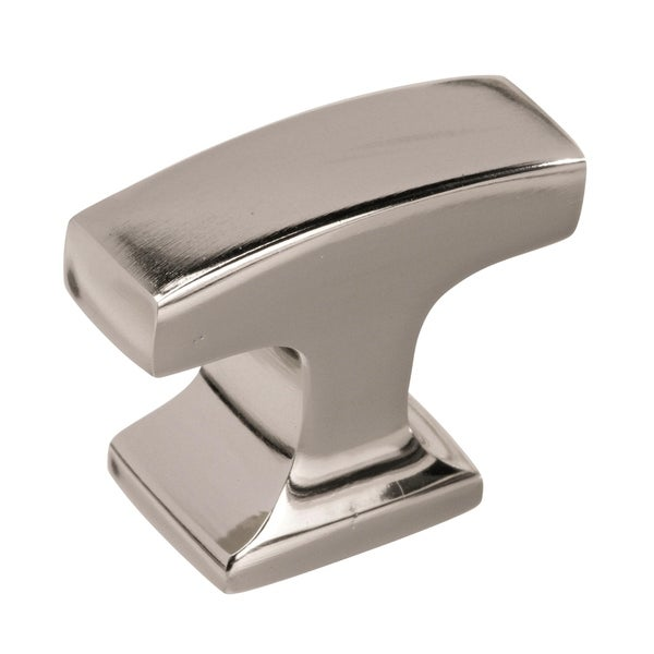 Westerly 1 5/16 In (33 Mm) Length Polished Nickel Cabinet Knob
