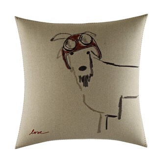 Ellen Degeneres Goat With Helmet Throw Pillow