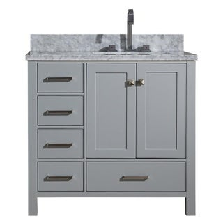 Ariel Cambridge Grey 37-inch Right-offset Single-sink Vanity