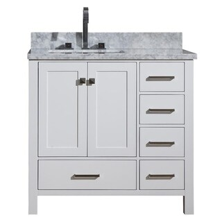 Shop ARIEL Cambridge 37-inch Right Single Offset-sink ...