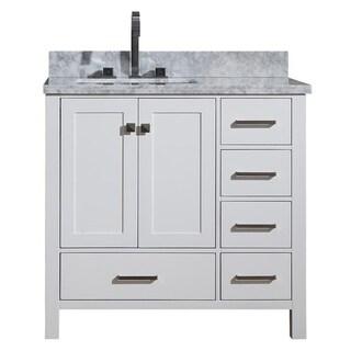 Shop Ariel Cambridge 37 Inch Right Single Offset Sink
