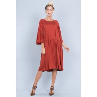 JED Women's Relax Fit Knee-Length Babydoll Dress