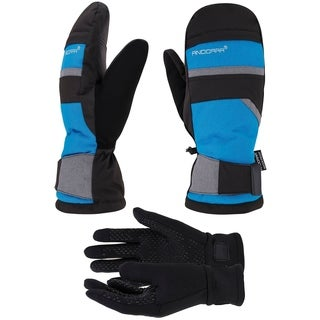 Hyper Tech Touchscreen Ski Mittens w/ Pockets & Optional Light Inner Gloves