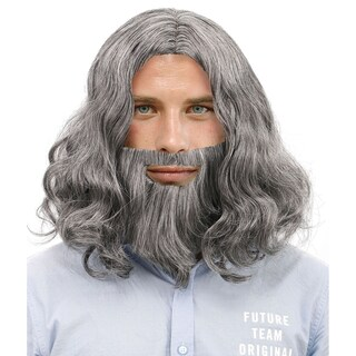 Men's Jesus Full Brown Wig and Beard Costume Hair Accessory