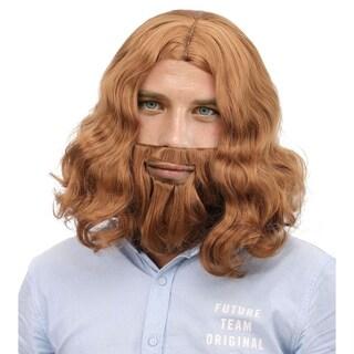 Men's Jesus Full Brown Wig and Beard Costume Hair Accessory