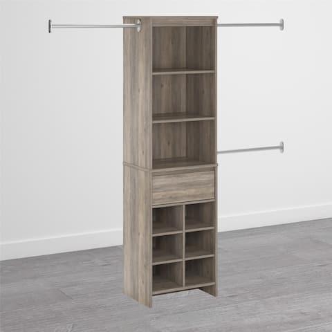 Avenue Greene Leland Grey Oak Adult Closet System