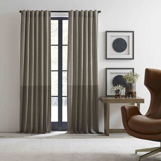 Ellen Degeneres Shadow Panel Neutral Pole Top Drapes