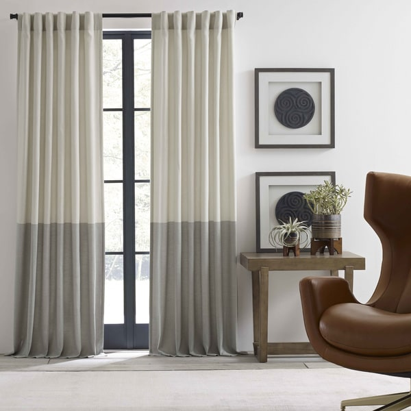 Ellen Degeneres Shadow Panel Ivory Pole Top Drapes by Ed Ellen Degeneres