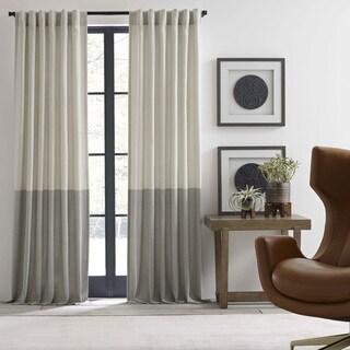Ellen Degeneres Shadow Panel Ivory Pole Top Drapes