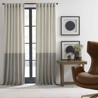 Ellen Degeneres Shadow Panel Ivory Pole Top Drapes