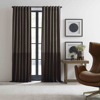 Ellen Degeneres Shadow Panel Brown Pole Top Drapes