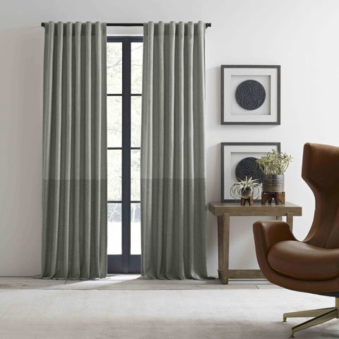 Ellen Degeneres Shadow Panel Grey Pole Top Drapes