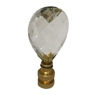 Link to Royal Designs Small Diamond Swiss Cut Clear K9 Crystal Lamp Finial For Lamp Shade with Polished Brass Base Similar Items in Keyboards & Mice