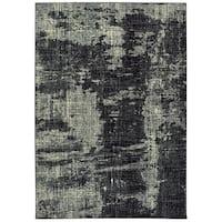 "Strick & Bolton Draga Black/ Ivory Abstract Area Rug - 3'10 x 5'5 - 3'10"" x 5'5"""