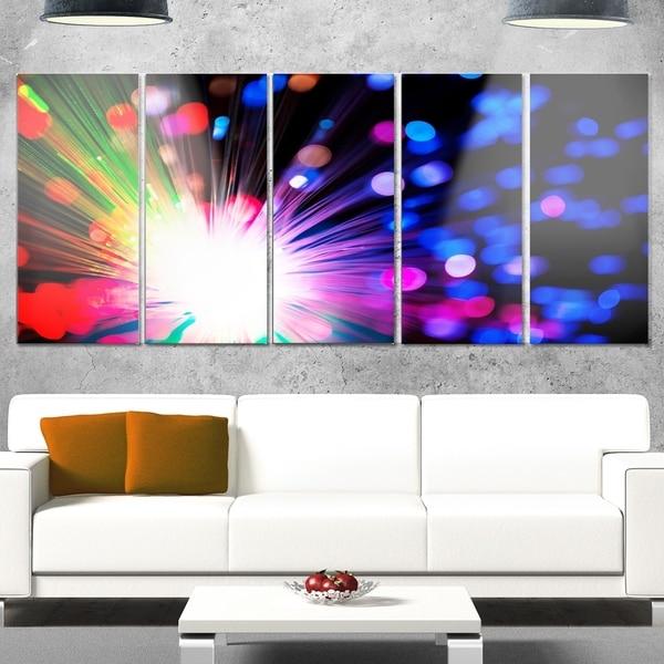 Shop Designart \'Multicolor Optical Fiber Lighting\' Large Abstract ...